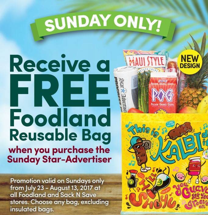 Free Bag with purchase of newspapert for limited time.