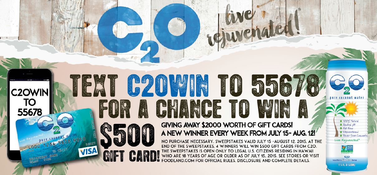 C2O Text-to-Win | Foodland