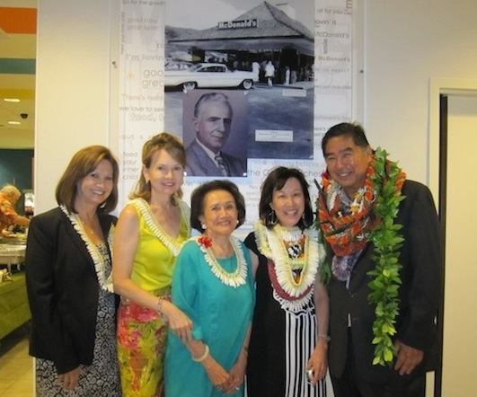 Veronica Kaneko of McDonalds, Kitty Sullivan Wo, Joanna Sullivan, and Aina Haina McDonald's Owners Colleen and Glenn Waki (from left to right)