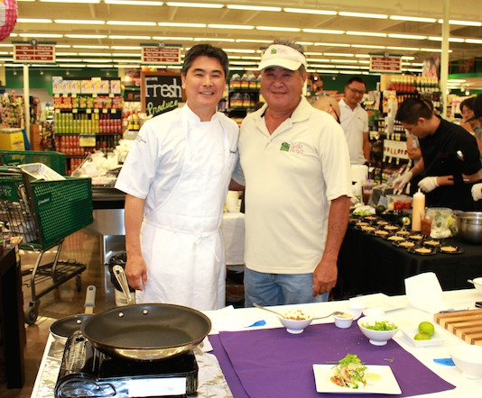 Chef Roy Yamaguchi and Dean Okimoto of 'Nalo Farms