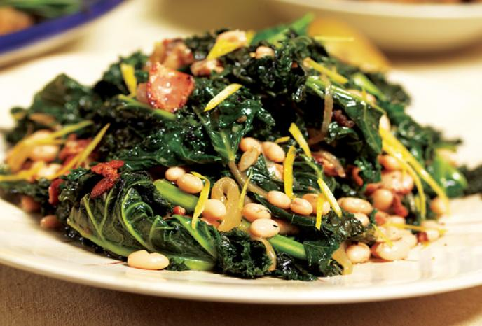 Braised Kale and White Beans | Foodland