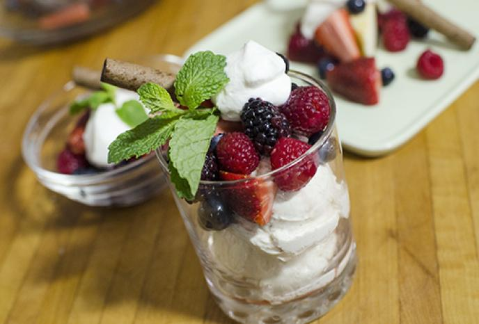 Berries With Gran Marnier And Chantilly Cream Foodland
