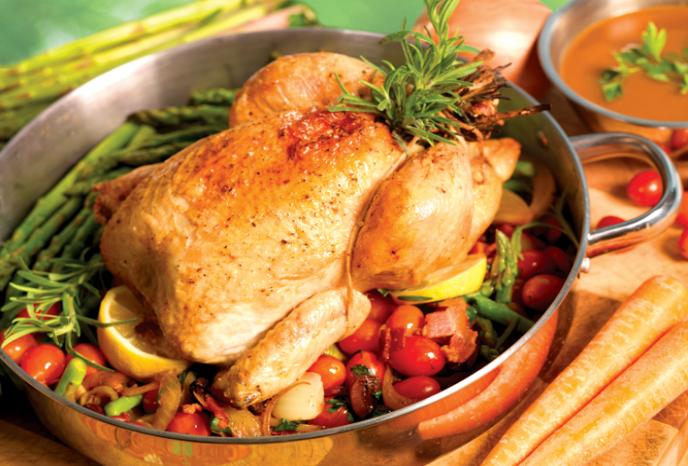 Lemon and Rosemary Roasted Chicken with Pan Gravy | Foodland