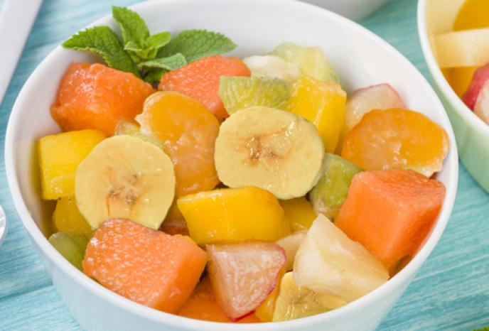 Local Fruit Salad with Mint and Honey Photo