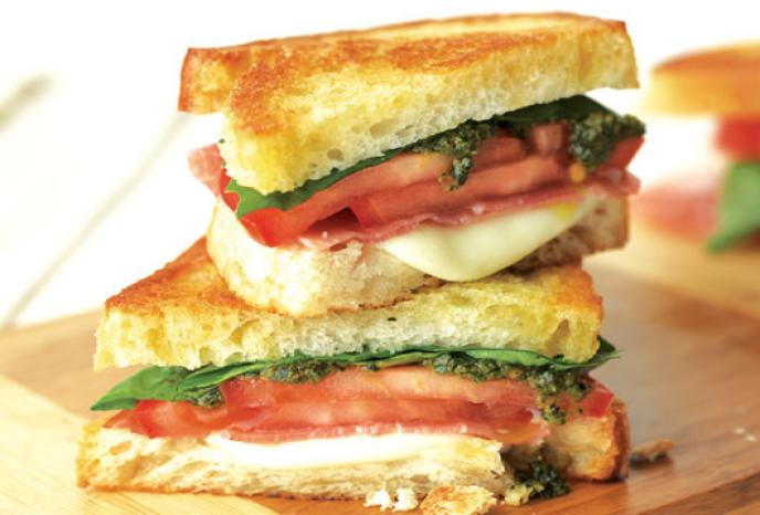 Prosciutto and Tomato Mozzarella Grilled Cheese | Foodland