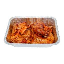 BBQ Chicken Leg Quarters Pan