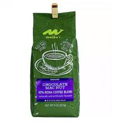 Maika'i Chocolate Mac Nut 10% Kona Coffee Blend, Ground