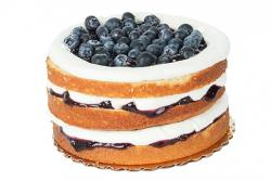 Cornbread Cake with Blueberry Compote